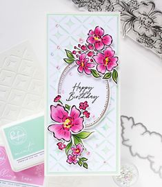 Card Making Inspiration, Making Ideas, Birthday Thanks, Studio Cards, Beautiful Handmade Cards, Pretty Cards, Flower Cards, Clear Stamps, Stampin Up Cards