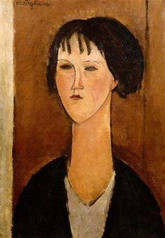 'young girl with bangs' by amedeo modigliani Amedeo Modigliani, Gustav Klimt, Renaissance Paintings, Italian Painters, Art Academy, Art Moderne, Italian Art, Illustrations, Pretty Art