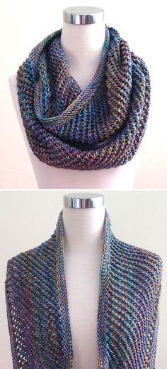 Free Knitting Pattern for Easy 2 Row Repeat Autopilot Cowl - This 2 row repeat cowl got its name because it's so easy that the designer says it can be knit on autopilot while traveling, watching tv, or socializing. And it doesn't need blocking! It can be adjusted in both length and width. Rated very easy by Ravelrers. Designed by Dominique Trad