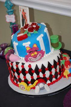Alice in Wonderland Party Mad Hatter Cake