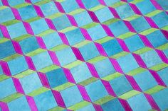 Cool colours, geometric, interior style for the summer, rug