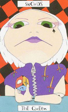 Queen of Swords - Phantasmagoric Theater Tarot by Graham Cameron