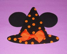 Disney Halloween Mickey Minnie Mouse WITCH Hat