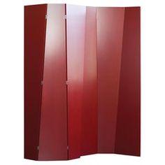 Handmade Tri-Fold Opaque Lacquer Folding Screen / Room Divider