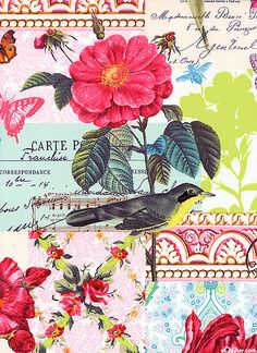 'Belle Rose' from the 'French Journal' collection by London Portfolio for Michael Miller Fabrics.