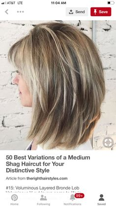 70 Best Variations of a Medium Shag Haircut for Your Distinctive Style (With images) Medium Layered Hair, Medium Hair Cuts, Medium Hair Styles, Short Hair Styles, Medium Shaggy Hairstyles, Layered Haircuts, Easy Hairstyles, One Hair, Hair Dos