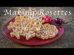 Making Rosette Cookies - YouTube