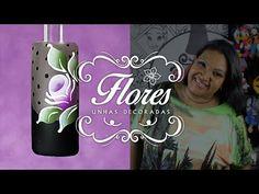 Unhas Decoradas com Flores Simples (Carga Dupla) | Cola na Villar - YouTube