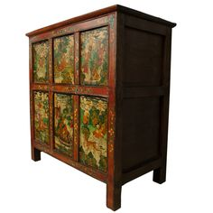 Antique Painted Tibetan Chest