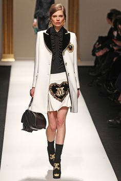 Blouse/Jacket -- Moschino RTW Fall 2013 - Slideshow - Runway, Fashion Week, Reviews and Slideshows - WWD.com