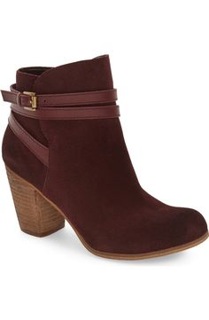 Totally crushing on the rich burgundy color of these trendy fall booties, and…