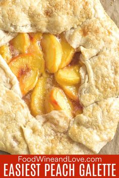 This wonderful smelling and looking recipe for the Easiest Peach Galette ever is a delicious and impressive looking dessert. Peach Galette Recipe, Gallette Recipe, Wine Recipes, Dessert Recipes, Cooking Recipes, Nutella Recipes, Paleo Dessert, Dessert Ideas, Snack Recipes