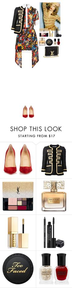 """Outfit"" by eliza-redkina ❤ liked on Polyvore featuring Christian Louboutin, Givenchy, Yves Saint Laurent, Stila, Rodial, Deborah Lippmann, outfit, like and look"