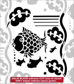 Repeat No 37 stencil from The Stencil Library ART DECO range. Buy stencils online. Stencil code DE316.