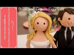 ▶ How to make Bride and Groom Cake Toppers - YouTube Videotutorial