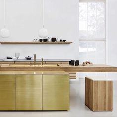 """75 Likes, 6 Comments - STUDIO BLACK INTERIORS (@studioblackinteriors) on Instagram: """"Luxury brass kitchen by @multiform who specialise in Scandinavian designed, modern and innovative…"""""""