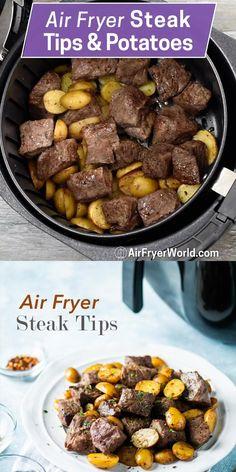 Air Fryer Oven Recipes, Air Frier Recipes, Air Fryer Dinner Recipes, Cube Steak Recipes, Beef Recipes, Cooking Recipes, Diner Recipes, Low Carb Recipes, Air Fry Steak