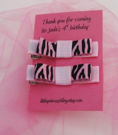 Birthday party favor! Love this idea!!