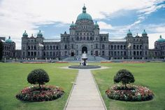 BC Parliament Buildings and gardens in Victoria BC, what great memories of a trip here in the 70's!