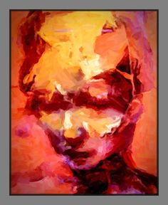 Playing With Fire Art Print Ink Transfer, Fire Art, Abstract Faces, Printmaking, Saatchi Art, Art Prints, The Originals, Paper, Painting