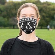 Pittie Skull Blingy Pattern Cloth Face Mask   tattoo biker, driving quotes, womens biker jackets #ridehard #bikerlife #ktmindia, 4th of july party