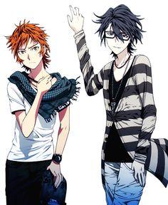 Yata Misaki and Fushimi Saruhiko.K Project Kk Project, K Project Anime, Anime Glasses Boy, Anime K, Return Of Kings, Hot Anime Guys, Anime Girls, D Gray Man, Another Anime