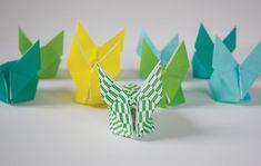 { #DIY } 30 idées créatives pour sa décoration de pâques - part 1 | www.decocrush.fr #easter #rabbit #origami #tangram