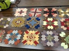 Lucy Boston's Patchwork of the Cross blocks, just started mine last night,