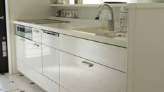 キッチン収納★スパイスニッチ(キッチンニッチ)が便利。高さにあった調味料瓶はこれ!|目指せフレンチシック・オシャレな家づくり Double Vanity, Washing Machine, Sink, Home Appliances, Bathroom, Kitchen, Furniture, Home Decor, Sink Tops