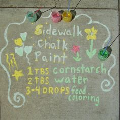 Make Your Own Sidewalk Chalk Paint | Mama's Magic Studio