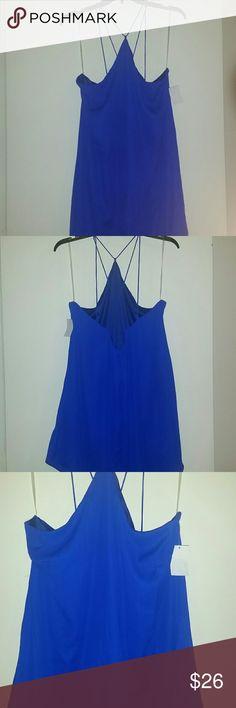 *WEEKEND SALE* *NWT* Charlotte Russe mini dress *NWT* Charlotte Russe blue mini dress, size XLARGE. Charlotte Russe Dresses Mini