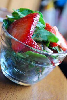 Strawberry-Basil Salad with Balsamic Vinaigrette - Shrinking Kitchen : Shrinking Kitchen