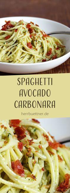The post Spaghetti appeared first on … Espaguete Abacate Carbonara com Bacon. O post Spaghetti apareceu primeiro no Nachtisch Rezepte. Salad Recipes For Parties, Salad Recipes For Dinner, Easy Healthy Recipes, Vegetarian Recipes, Easy Meals, Vegetarian Italian, Healthy Salads, Healthy Eating, Summer Salads