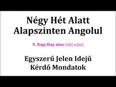 Könnyen, Gyorsan Angolul 1-106. nap - YouTube English Words, English Language, Math Equations, Education, Nap, Youtube, Massage, Study, School