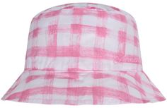 Armani Baby Girls Pink Check Hat