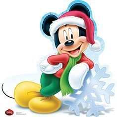 Advanced Graphics 1736 Mickey Mouse Holiday - Disney - x Cardboard Standup Mickey Mouse Christmas, Christmas Cartoons, Mickey Mouse And Friends, Disney Mickey Mouse, Walt Disney, Mickey Mouse Kunst, Pinturas Disney, Disney Winnie The Pooh, Disney Wallpaper