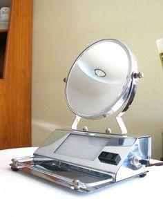 Vintage Deco Chrome Vanity Makeup Mirror