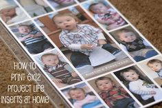 printing 6x12 Project Life inserts at home