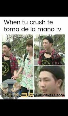Read 24 from the story MEMES DE BTS by (Sra.Jung) with reads. Namjin, Meme Faces, Funny Faces, Bts Taehyung, Bts Bangtan Boy, Vkook Memes, Bts And Exo, I Love Bts, Foto Bts