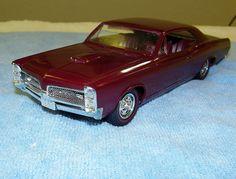 1967 Pontiac GTO Hardtop Promo Model Car - Burgundy Metallic | por coconv