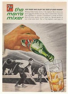 Whiskey bowling, 1963. Note he's wearing a ring, but not a wedding band. Nobody puts Whiskey Bowler in a corner.