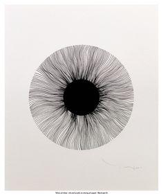 Buy Black eye 01 - Tehos, Ink drawing by Tehos on Artfinder. Discover thousands of other original paintings, prints, sculptures and photography from independent artists. Illustration Art Nouveau, Eye Illustration, Art Sketches, Art Drawings, Posca Art, Abstract Line Art, Pen Art, Doodle Art, Art Inspo