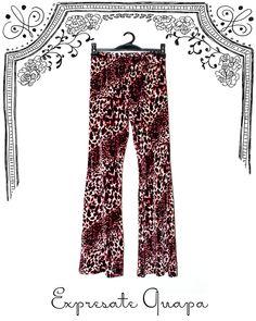 Pantalon Chifon Animal Print T.40