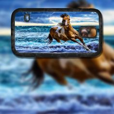 Horse in Storm Design on Samsung Galaxy S5 Black Rubber Silicone Case by EastCoastDyeSub on Etsy https://www.etsy.com/listing/196335370/horse-in-storm-design-on-samsung-galaxy