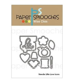 Paper Smooches Wise Die - Needle Little Love Icons