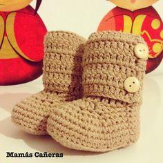 Botines para bebé Slippers, Tapestry, Crochet, Cotton, Weaving, Crocheting, Tejidos, Hanging Tapestry, Tapestries