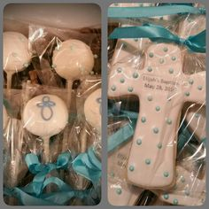 Baptism cake pops and cookies