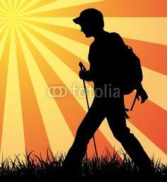 hiker silhouette - Google Search