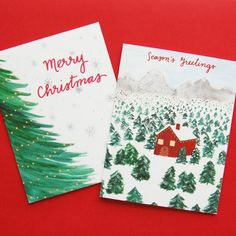 There's nothing wrong with a classic Christmas card.