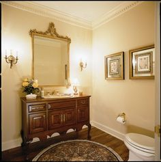 Cherry Powder Room Vanity